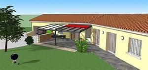 Store Banne 7m : projet pergola alu mixte panneaux sandwich verre store ~ Edinachiropracticcenter.com Idées de Décoration