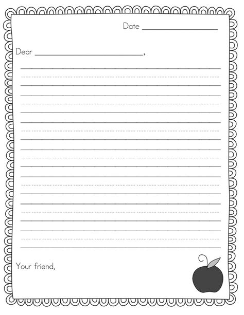 friendly letter template  world  reference