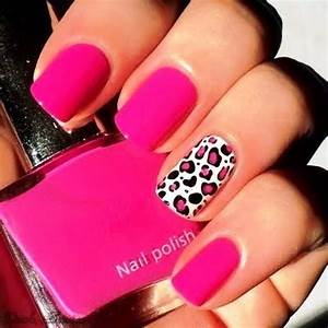 Who Wants To Get These Cute Pink Leopard Print Nail Arts?