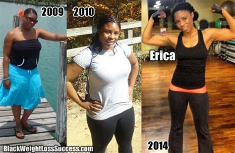 erica lost  pounds black weight loss success