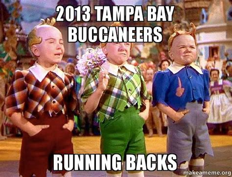 Ta Bay Buccaneers Memes - 2013 ta bay buccaneers running backs make a meme