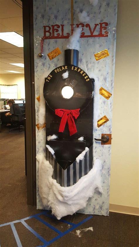 christmas door decoration polar express christmas