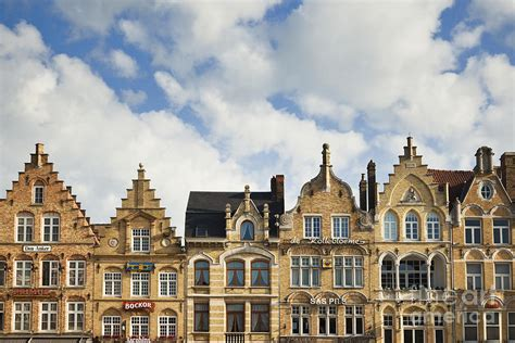 Flemish Architecture In Ypres, Belgium Photograph By Jon Boyes