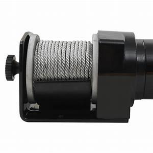 12 V Electric Winch 2000 Lb Wire Remote Control