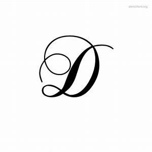 Letter D In Cursive - Boxfirepress