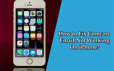 iphone email not working fix comcast email not working issues on iphone step by step
