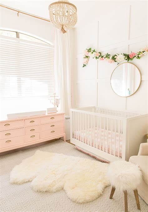 pink rug the posh home blush pink baby nursery reveal