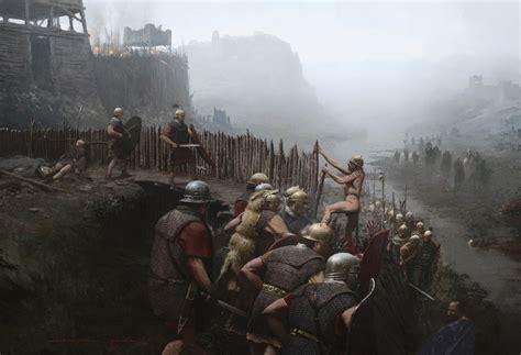 siege alesia cabrera peña artwork historical illustration
