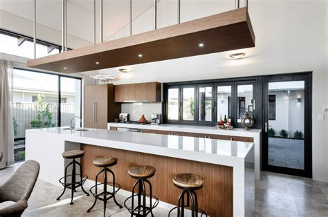 big island kitchen dise 241 o de fachada e interiores casa un piso 1647