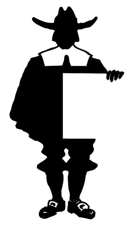 thanksgiving printable pilgrim silhouette place cards