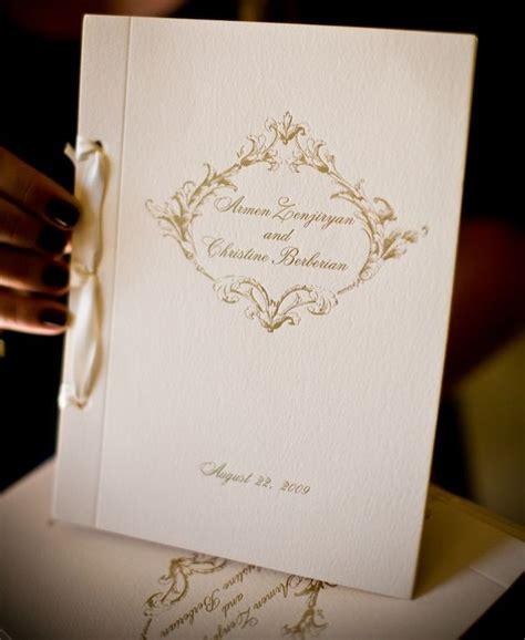 elegant wedding programs ideas  pinterest