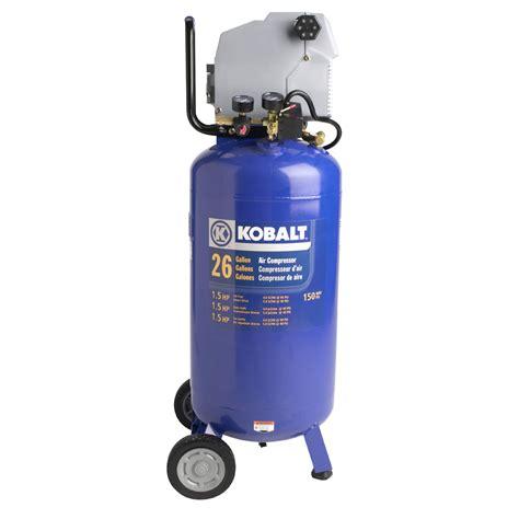 Kobalt Floor Owners Manual by Shop Kobalt 1 5 Hp Peak 26 Gallon Air Compressor At
