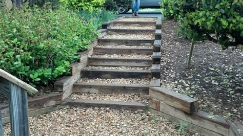 Treppe Garten Selber Bauen Holz Hl93 Hitoiro