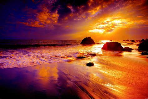 beach sunset fond decran hd arriere plan