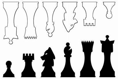 Chess Pieces Vector Printable Board Template Diy