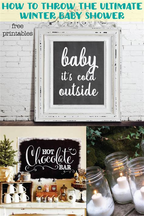 winter christmas baby shower ideas   printable