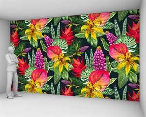 Papier Peint Fresque Fleurs by Yeda Design Papier Peint Motifs Textile Et Vinyle