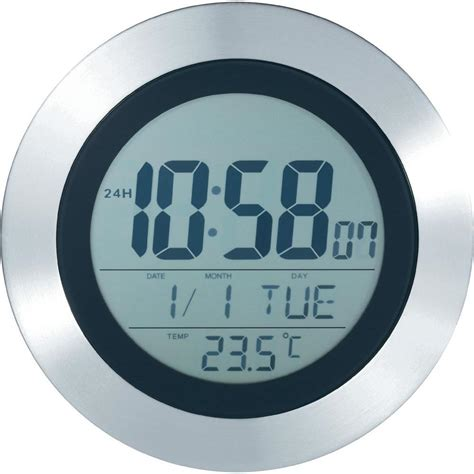 horloge murale radiopilot 233 e kw 9092 argent noir 204 mm x 204 mm x 32 mm vente horloge