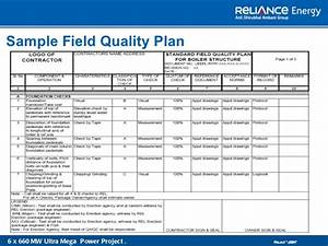 quality management With quality plan template example