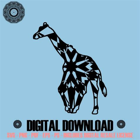 Some giraffe svg may be available for free. Young Giraffe Mandala SVG November Collection Digital ...