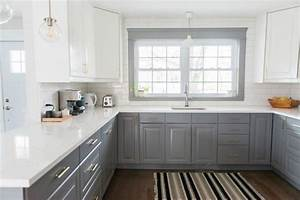 A Gray and White IKEA Kitchen Transformation - the