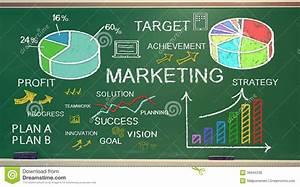Marketing Ideas On Chalk Board Stock Illustration - Image ...