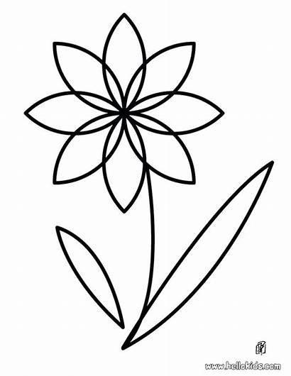 Coloring Flower Single Pages Printable Getcolorings Death