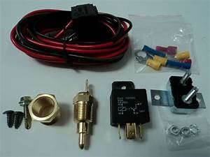 Electric Fan Wire Harness Kit Complete Thermostat 50 Amp