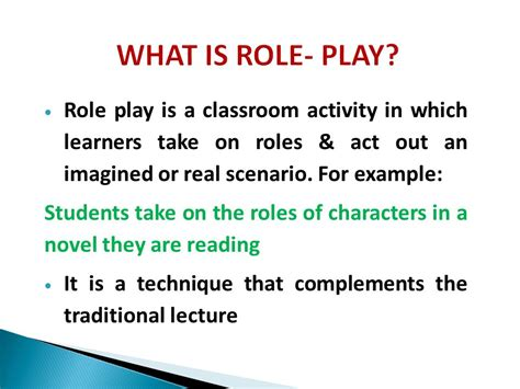 Roleplay As A Teaching Method  Ppt Video Online Download