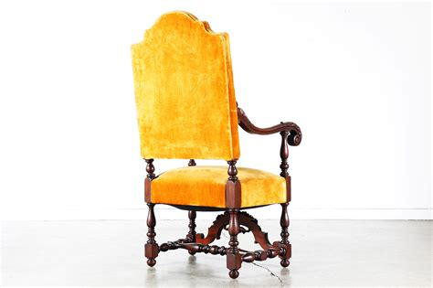 antique carved mahogany high back chair vintage supply store