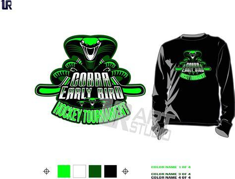 cobra early bird cool hockey tshirt vector design