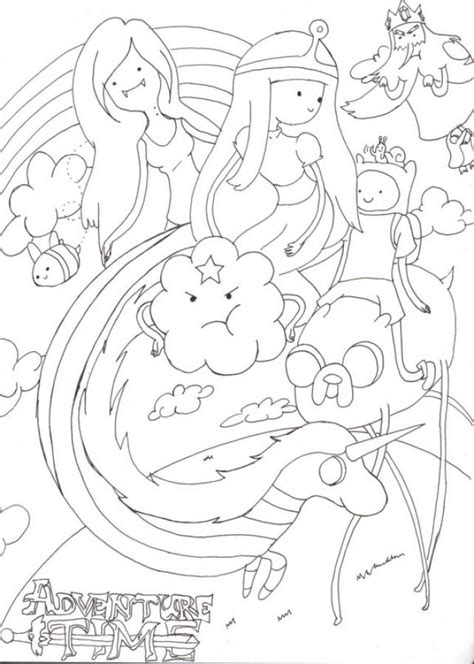 Coloring Time by Beautiful Doodle Of Adventure Time Coloring Pages