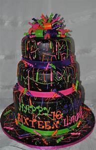 neon paint splatter cake cakecentral