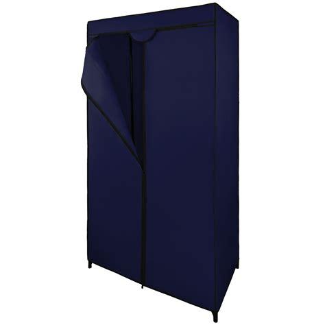 Cupboard Rails by Single Canvas Fabric Wardrobe 75x50x160 Cm Hanging Rail