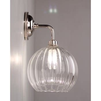 lenham traditional ribbed globe bathroom wall light