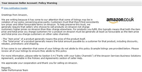Have You Received A Price Parity Policy Warning From