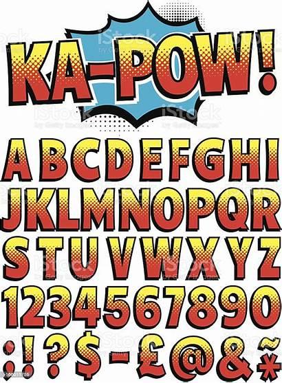 Font Cartoon Vector Comic Illustration Alphabet Letter