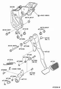 1996 Toyota Tacoma Bush  For Brake Pedal  For Clutch Pedal