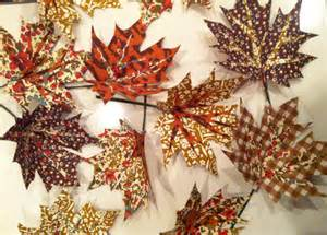 dot fabric autumn leaves