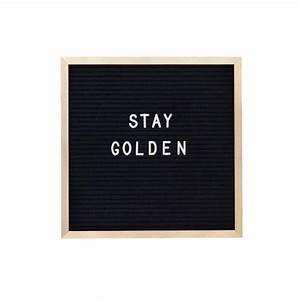 10 x 10 gold metal frame black felt letterboard rivi co With letter board co
