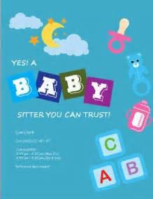 Cute Babysitting Flyer Template