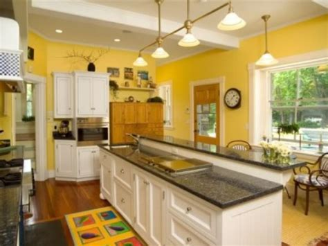 Yellow Kitchen Paint With White Cabinets