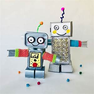 Roboter Selber Bauen Für Anfänger : diy trash roboter fridolin mit geheimfach ~ Watch28wear.com Haus und Dekorationen