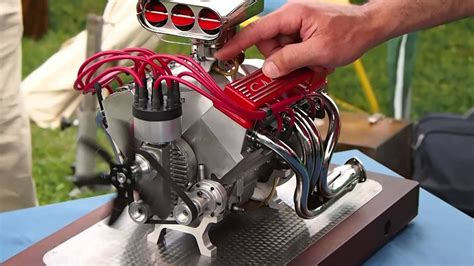 cnc 4 axis and miniature chevrolet v8 sound every thing any thing