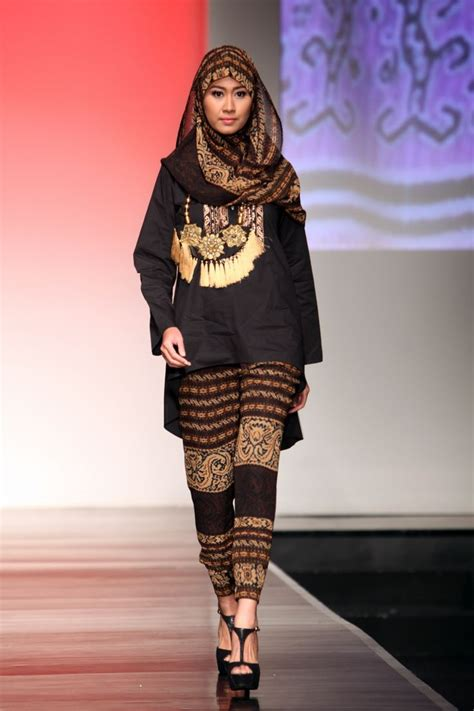 model baju batik muslim bikin kamu tetep eksis