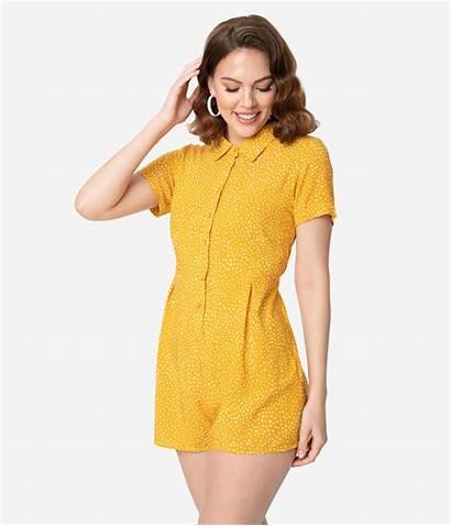 Summer Beach Clothes Outfits Short Sleeve Mustard
