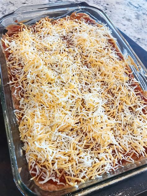 taco bell beans cheese shredded pineapple until covered