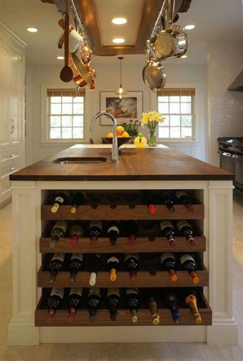 kitchen islands with wine racks 10 built in diy wine storage ideas home design and interior