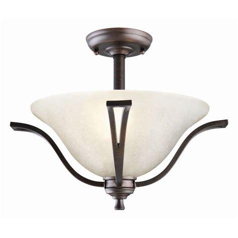 semi flush mount ceiling lights design house ironwood 2 light brushed bronze ceiling semi