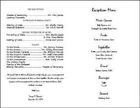 wedding reception program template best photos of wedding reception program template wedding reception program sle templates